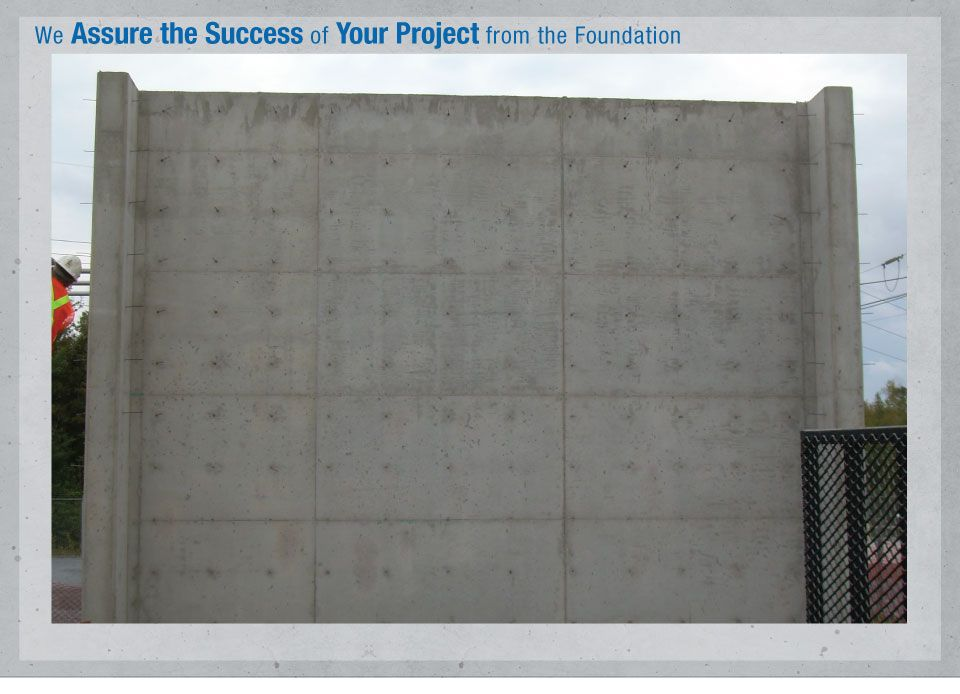 We Assure the Success of Your Project from the Foundation - Concrete wall