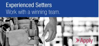 Experienced Setters - Work with a winning team. - Apply