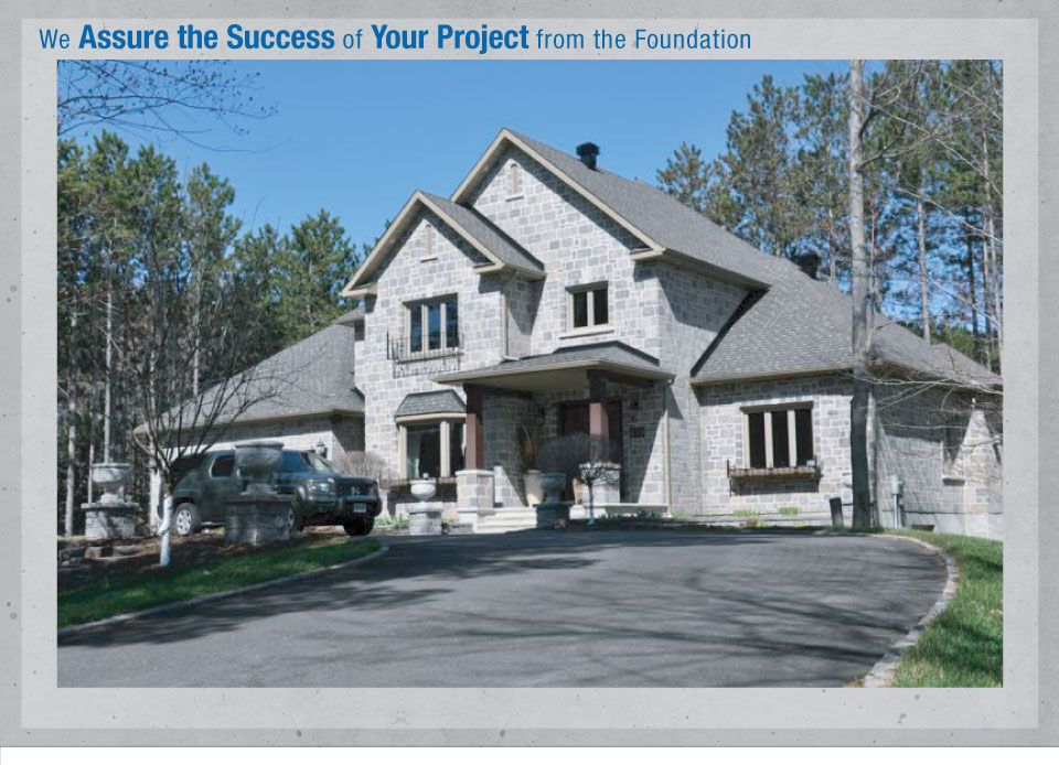 We Assure the Success of your Project from the Foundation - Gray House