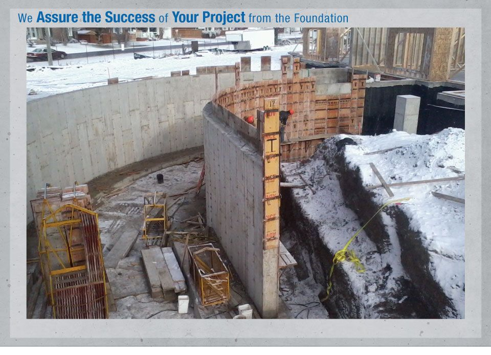 We Assure the Success of Your Project from the Foundation - circular foundation